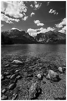 Phelps Lake, Laurence S. Rockefeller Preserve. Grand Teton National Park ( black and white)
