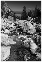 Creek, Garnet Canyon. Grand Teton National Park ( black and white)