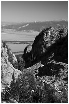 Jackson Hole from Garnet Canyon. Grand Teton National Park ( black and white)