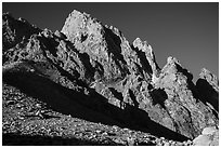 Grand Teton from Lower Saddle. Grand Teton National Park ( black and white)