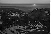 Sun setting over Table Mountain. Grand Teton National Park ( black and white)
