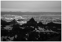 Shadows of the Tetons. Grand Teton National Park ( black and white)