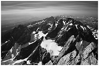 View from Upper Exum Ridge, Grand Teton. Grand Teton National Park ( black and white)