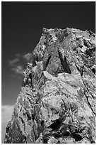 Summit of Grand Teton from Upper Exum Ridge. Grand Teton National Park ( black and white)