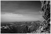 View from Upper Saddle of Grand Teton. Grand Teton National Park ( black and white)