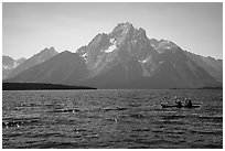 Kakayers, Colter Bay and Mt Moran. Grand Teton National Park ( black and white)