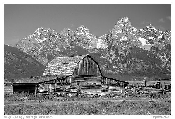Black And White Picture Photo Historic Moulton Barn And
