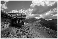 Alpine Visitor Center. Rocky Mountain National Park, Colorado, USA. (black and white)