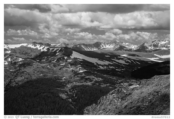 Gore range. Rocky Mountain National Park (black and white)