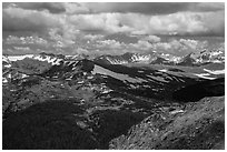 Gore range. Rocky Mountain National Park ( black and white)