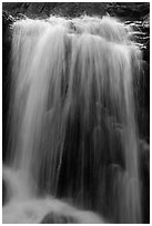 Alberta Falls 30 feet drop. Rocky Mountain National Park ( black and white)