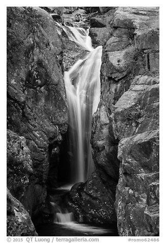 Chasm Falls. Rocky Mountain National Park (black and white)