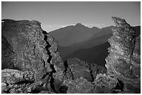 Rock Cut framing Longs Peak at night. Rocky Mountain National Park ( black and white)