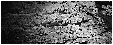 Cave walls. Wind Cave National Park (Panoramic black and white)