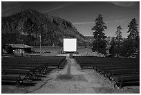 Amphitheater, Madison Campground. Yellowstone National Park ( black and white)