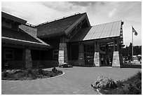 Canyon Village Visitor Education Center. Yellowstone National Park ( black and white)
