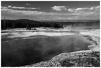 Abyss Pool, West Thumb. Yellowstone National Park ( black and white)