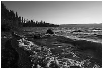 Lewis Lake. Yellowstone National Park ( black and white)