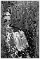 Kepler cascades. Yellowstone National Park ( black and white)