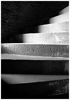Spiral staircase, Fort Jefferson. Dry Tortugas National Park, Florida, USA. (black and white)