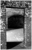 Cell of Dr Mudd. Dry Tortugas National Park, Florida, USA. (black and white)