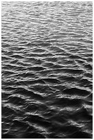 Reflections in moat. Dry Tortugas National Park, Florida, USA. (black and white)