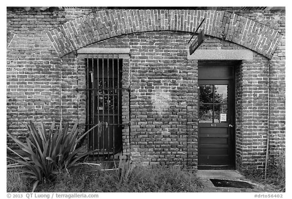 Visitor Center. Dry Tortugas National Park (black and white)