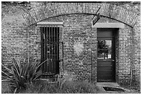 Visitor Center. Dry Tortugas National Park, Florida, USA. (black and white)
