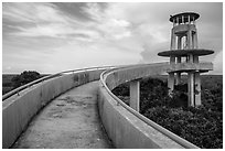 Shark Valley observation tower. Everglades National Park ( black and white)