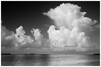 Summer clouds above Florida Bay. Everglades National Park ( black and white)