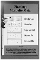 Flamingo Mosquito Meter. Everglades National Park ( black and white)