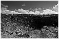 Pit crater. Hawaii Volcanoes National Park ( black and white)