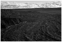 Immensity of Mokuaweoweo caldera. Hawaii Volcanoes National Park, Hawaii, USA. (black and white)