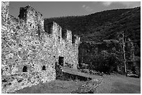 Annaberg Sugar Mill ruins. Virgin Islands National Park ( black and white)