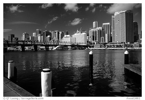 Darling harbour. Sydney, New South Wales, Australia (black and white)