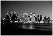 Skyline at night. Sydney, New South Wales, Australia ( black and white)