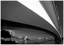 Bridge across the Brisbane River. Brisbane, Queensland, Australia (black and white)