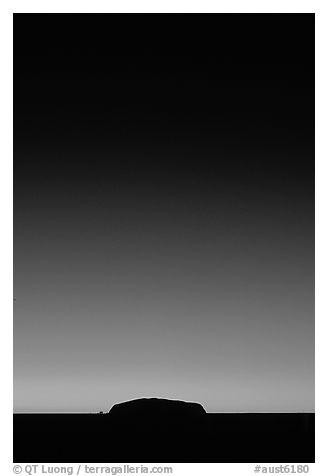 Dawn on Ayers Rock. Uluru-Kata Tjuta National Park, Northern Territories, Australia (black and white)