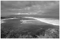 Coast near Paia. Maui, Hawaii, USA (black and white)