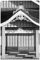 Detail of Zen temple, Hanapepe. Kauai island, Hawaii, USA (black and white)