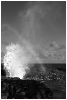 Spouting Horn, Poipu. Kauai island, Hawaii, USA (black and white)