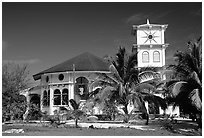 Church of Luma. American Samoa ( black and white)