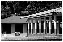 Home and fale in Luma. American Samoa ( black and white)