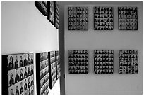Pictures of executed prisoners, Tuol Sleng Genocide Museum. Phnom Penh, Cambodia (black and white)