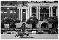 Post office. Yangon, Myanmar ( black and white)