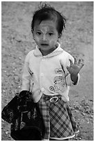 Infant girl. Kyaiktiyo, Myanmar ( black and white)