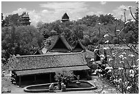 Overview. Muang Boran, Thailand ( black and white)