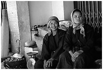Tribeswomen. Chiang Rai, Thailand ( black and white)