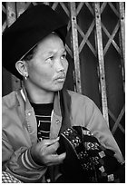 Tribeswoman. Chiang Rai, Thailand ( black and white)