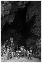 Pranang Cave, Railay. Krabi Province, Thailand ( black and white)